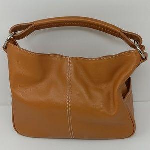 Tod's Tan Leather Handbag Purse